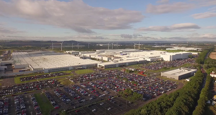 Nissan Sunderland Plant from air