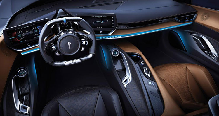 Electric Automobili Pininfarina Battista interior 1