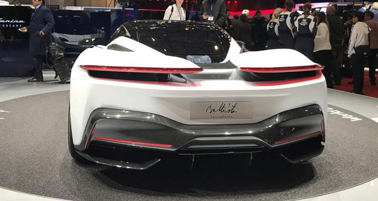Electric Automobili Pininfarina Battista rear 2