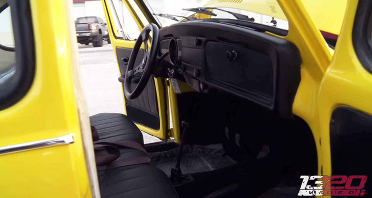 Shortened VW Noddy Beetle interior 1