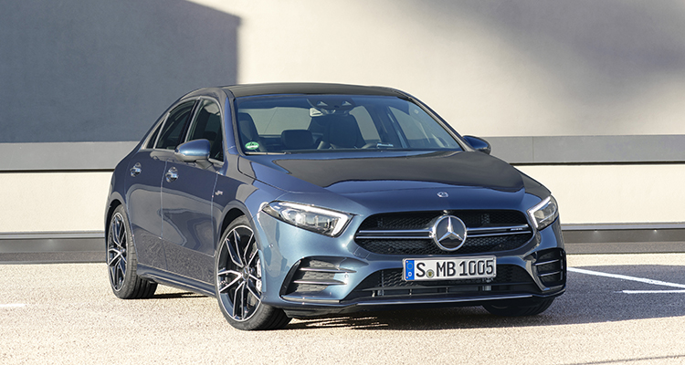 Mercedes-AMG A 35 4MATIC Saloon front side 2