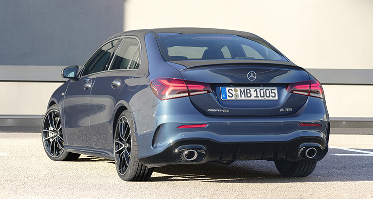 Mercedes-AMG A 35 4MATIC Saloon rear 3