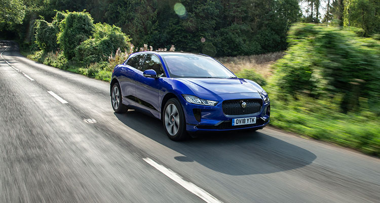 Jaguar I-Pace country roads