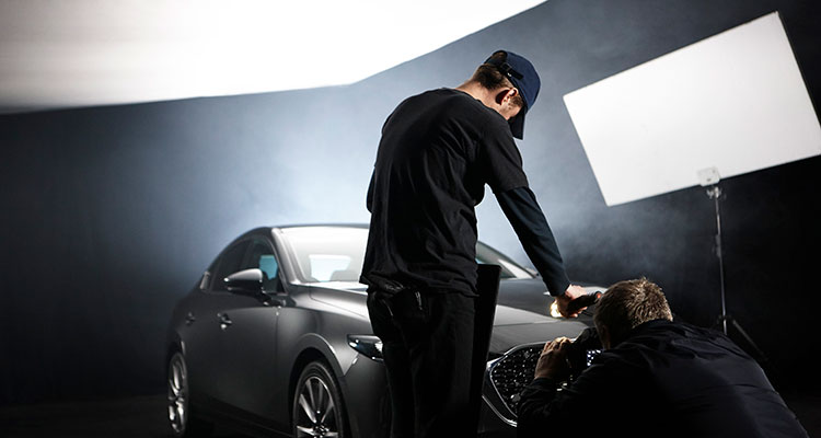 Rankin Mazda3 BTS London shoot (2)