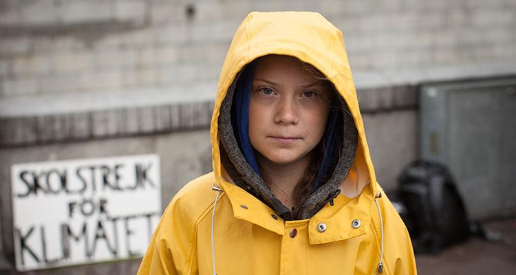 Jeremy Clarkson and Greta Thunberg