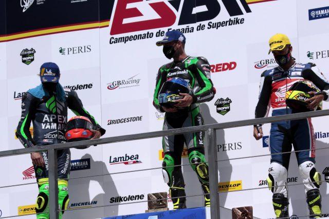 Podium ESBK Navarra Superbike