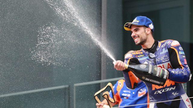 Miguel Oliveira celebra su primera victoria de MotoGP en el Red Bull Ring