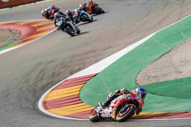 Álex Márquez en el sacacorchos de Motorland Aragón