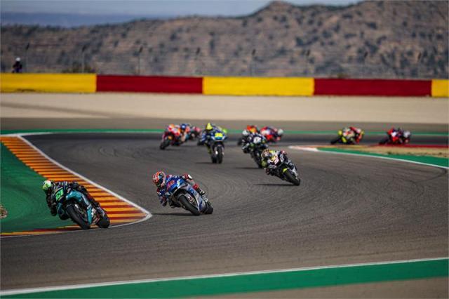 Primeros compases de la carrera de MotoGP del Gran Premio de Teruel