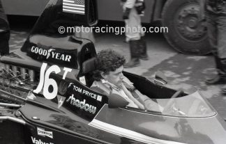 Race driver Tom Pryce in 1976