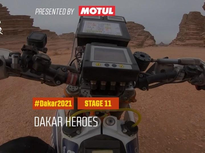 Video da 11 etapa do Dakar 2021