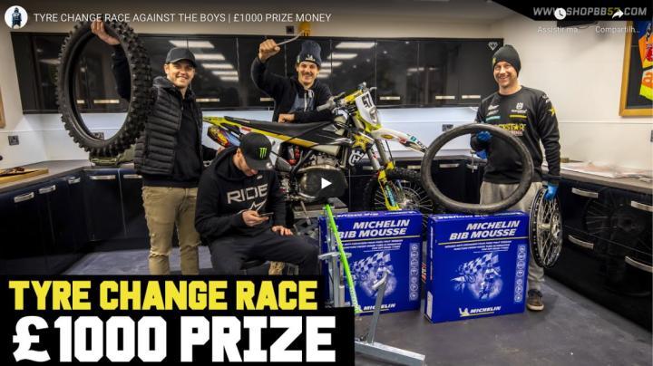 Video, Desafio da TROCA de pneu! Billy Bolt x Pro Mechanic x Tommy Searle