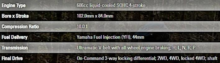 Yamaha Grizzly EPS SE Engine