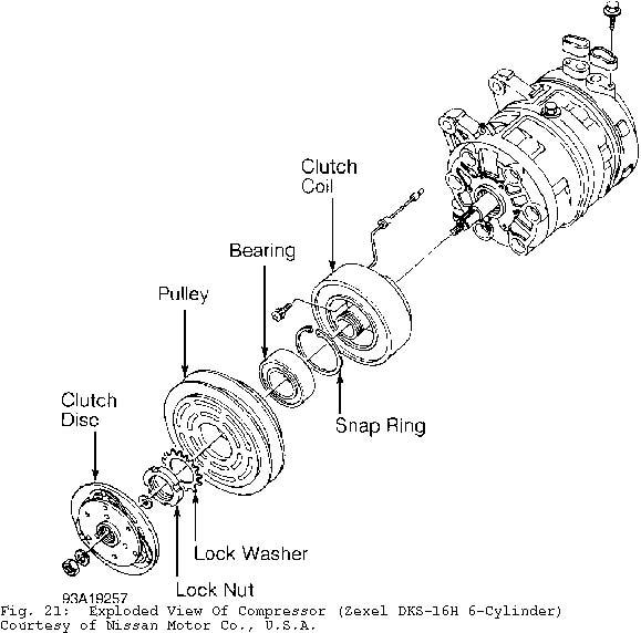 1) Ensure key is installed in compressor shaft keyway