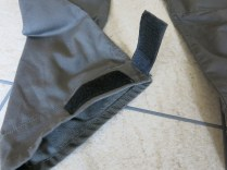 Velcro at trouser bottoms