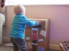 home made postbox