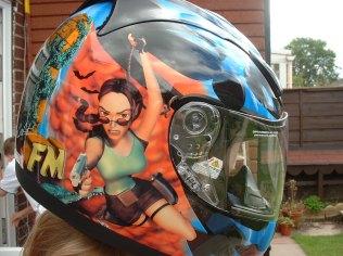 Sarah's Lara Croft helmet