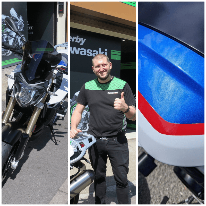 new bike day at Derby Kawasaki