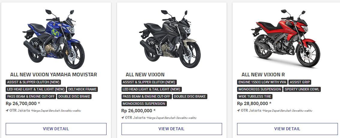 Rp. 28,8 juta adalah harga Yamaha New Vixion R VVA