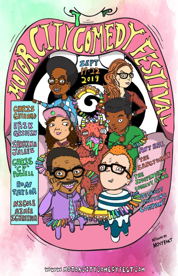 Motor City Comedy Festival 2019 Poster by Artsy Fart
