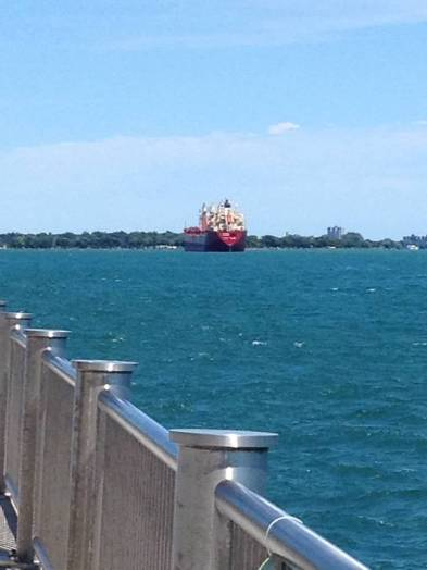 Here comes a ship! Heading for Lake Erie...