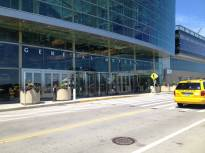 The RenCen RiverWalk entrance, which takes you to...