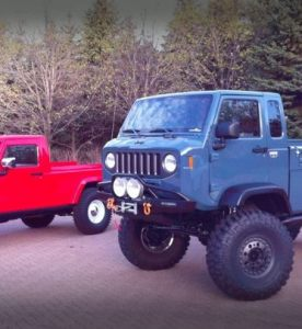 First Leaked Images of Jeep Might FC and J-12 Pickup Concepts Prior to Moab