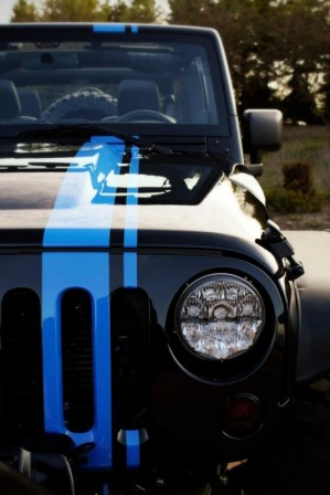 2012 Mopar Jeep Wrangler Apache Concept Grille LED Headlights