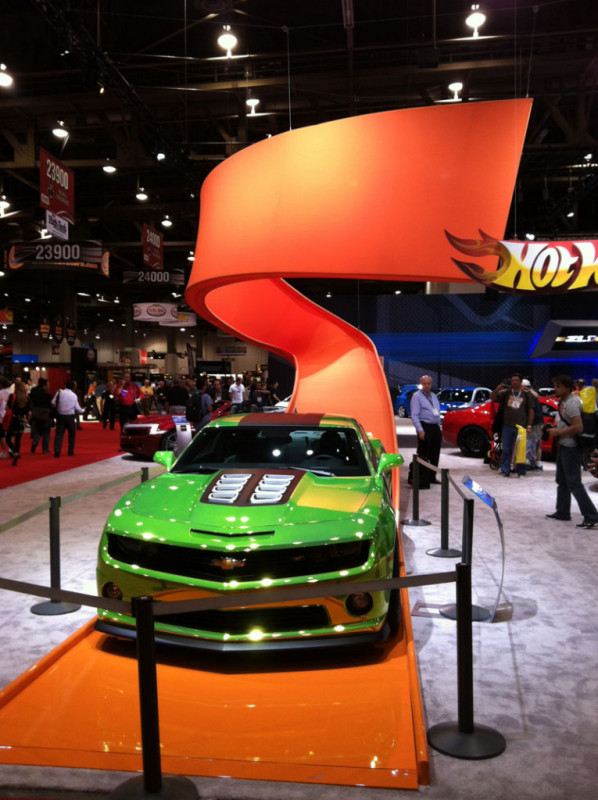 2012 Camaro Green Hot Wheels Concept Car SEMA Show