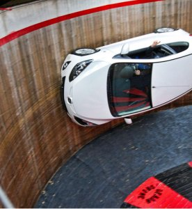 Death Defying Mazda2 Tackles the Wall of Death