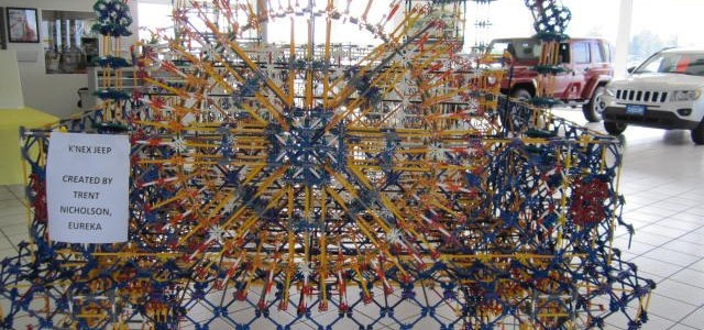 Life Size Jeep Wrangler Built Out of K'NEX