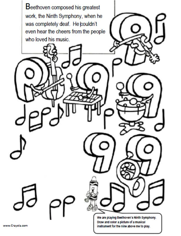 Free of the orchestra coloring pages