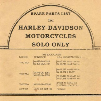 1940-1942 WLA Solo Parts Catalog