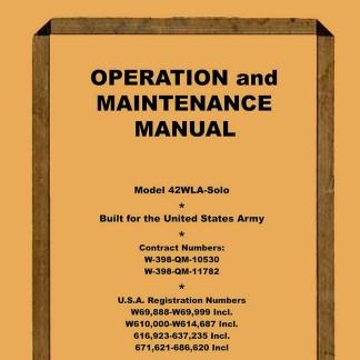 1942 WLA Solo Model Service Manual