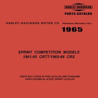 1961-1966 CRTT & CRS Sprint Competition Parts Catalog