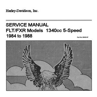 1984-1988 FLT & FXR Models Service Manual