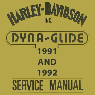 1991-1992 Dyna Models Service Manual