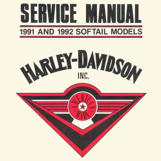 1991-1992 Softail Models Service Manual