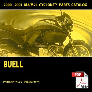 2000-2001 Buell Cyclone M2/M2L Models Parts Catalog