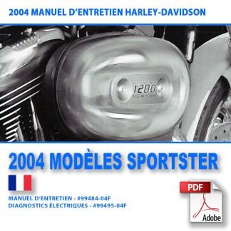 2004 Manuel d'entretien des modèles Sportster