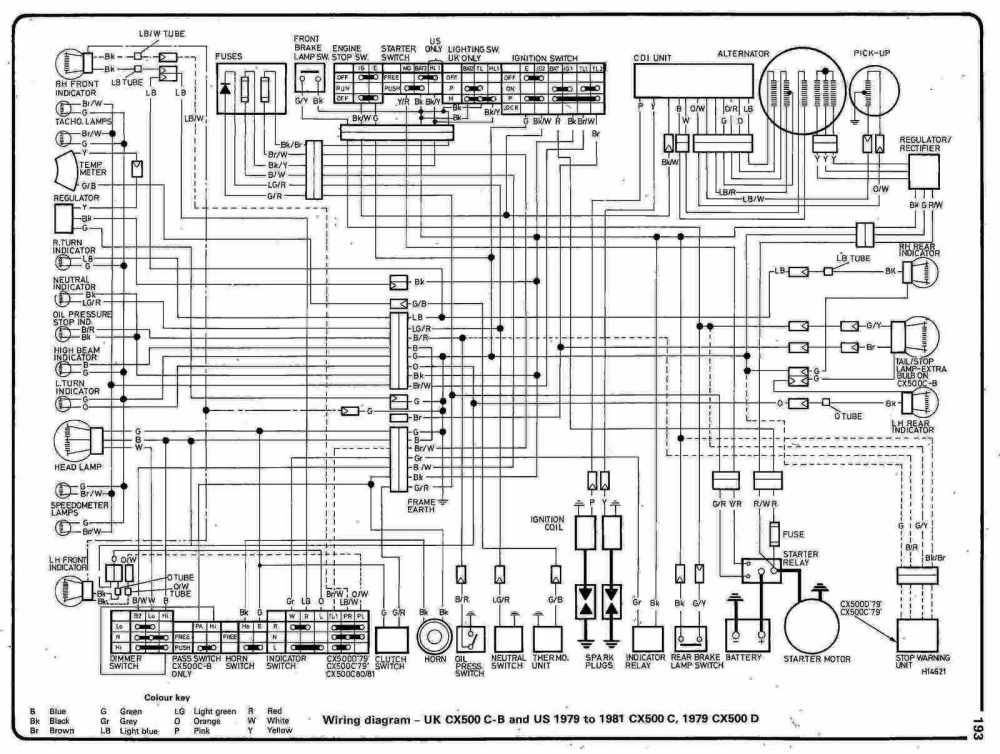 medium resolution of complete electrical wiring diagram of 1978 honda cx500 part 2 diagrams 640466 daewoo lanos wiring diagram