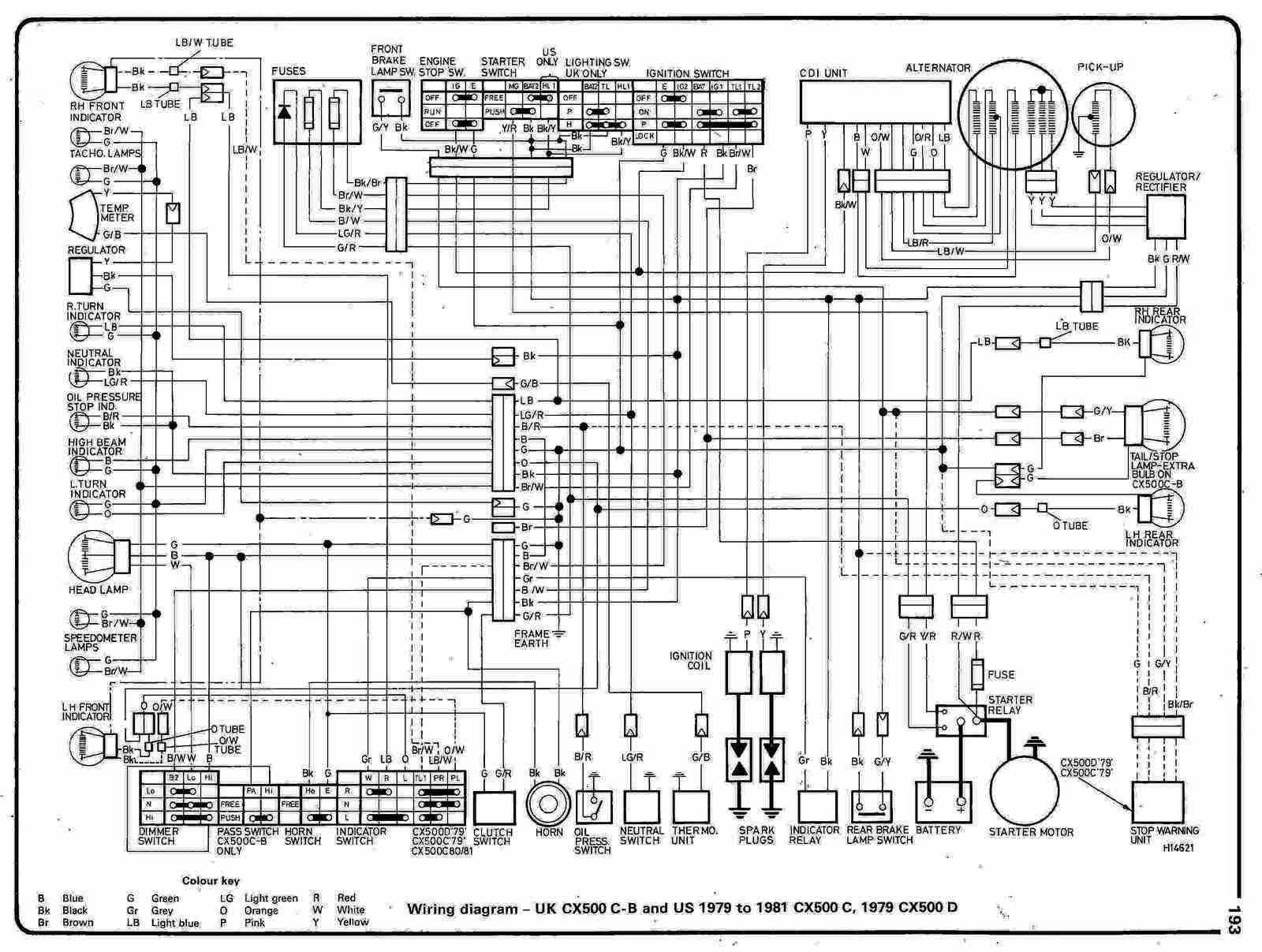 hight resolution of complete electrical wiring diagram of 1978 honda cx500 part 2 diagrams 640466 daewoo lanos wiring diagram