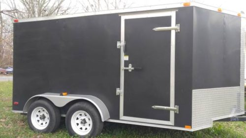 7X12 Dual Enclosed Motorcycle Trailer  3500 Birmingham