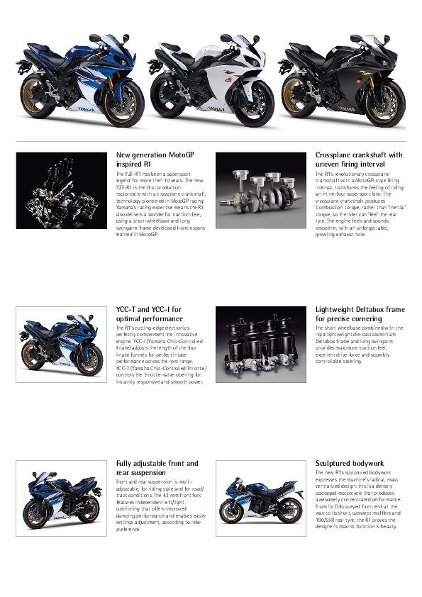 2010 Yamaha YZF1000R1 Factsheet Catalog