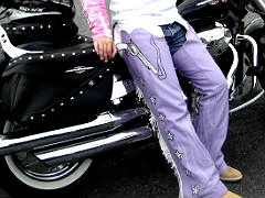 Purple Motorcycle Chaps