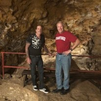 Greg and Mike in a Cave