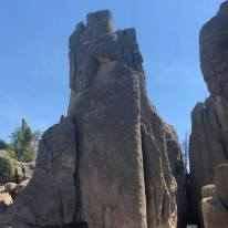 Large Rock Formation entrance to needles highway