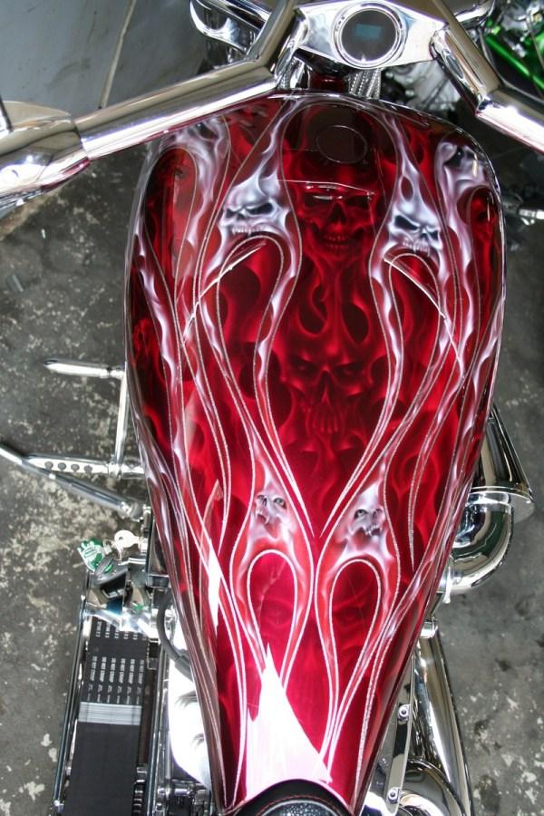 Custom Motorcycle Paint Job