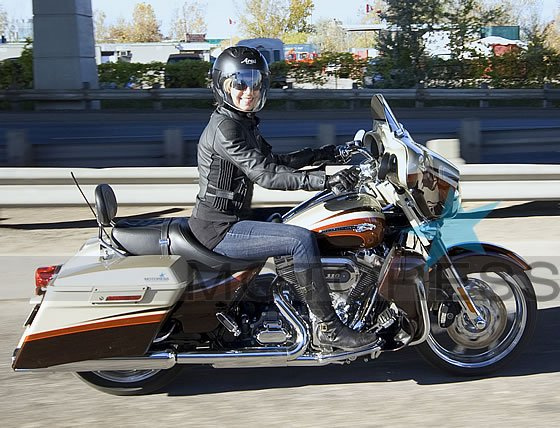 HarleyDavidson CVO Street Glide Ride Review  Woman