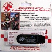 Motorcycle Helmet Medical Data Carrier - MOTORESS